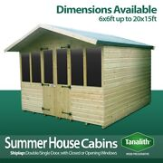 Supreme Summer House Log Cabin Shed Top Quality Graded Wooden Timber