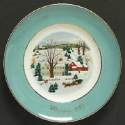 Avon Christmas Plate Collection 73-09