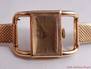 Piaget Art Deco Drivers Manual Wind Watch 18k Yellow Gold Case And Band Ref. 4009