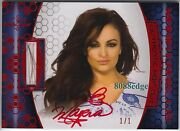 2012 Benchwarmer Soccer Hair Cut Auto Maria Kanellis 1/1 Of Red Autograph Dna
