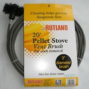 Rutland Pellet Vent/dryer Vent Brush With Handle New Free Usa Shipping 17419