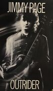 Jimmy Page Vintage Poster Outrider Led Zeppelin 1980's Pin-up Rock And Roll Guitar
