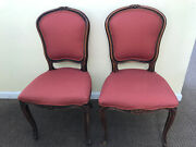 Antique Rust-colored Side Chairs--good Condition