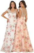Sale Formal Prom Evening Floral Gown Special Occasion Party Dresses Under 100