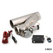 3 Universal Electric Exhaust Y-pipe Cutout Valve W/ Remote V2 For Ford Mustang