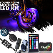 18pc Harley Street Glide Motorcycle Led Accent Glow Kit W Brake Light Function