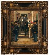 Hovenden The Last Moments Of John Brown 1884 Wood Framed Canvas Print Repro 8x10