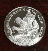 Paiute Indian Tribal Nations 999 Fine Silver Art Coin 1972 Franklin Mint