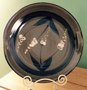 Moyallon Ceramics Ireland Art Pottery Plate Serving Platter Handles Lupine
