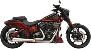Bassani 2 Into 1 Road Rage 3 Exhaust And Muffler System For 08-17 Harley Fxsb Fxse
