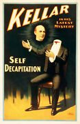 Magician Harry Kellar In His Latest Mystery Self Decapitation Show Poster