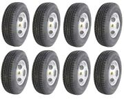 Set Of 8 - 16 Trailer Tire And Dual Wheel - 235 80 R16 - 10 Ply - Goodride