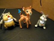 Disney Store Bambi Thumper And Owl Cake Toppers Figures Pvc Lot Of 3 Loose