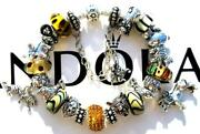Authentic Pandora Silver Charm Bracelet With Charms African Safari Ee68