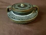 Rare Antique Norse Pottery #4 With Lid Circa 1903-1913