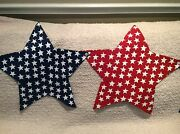 New Red White And Blue Us Flag Star Shaped Table Runner 20 X 79