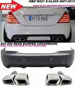 Mb W221 10-13 S63 S65 Amg Style Rear Bumper Facelift S Class S550 S600 With Pdc