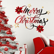 Christmas Wall Decal Vinyl Full Color Sticker Holiday Home Decoration Art Ma416