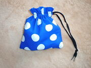 A Pretty Cotton Fabric Drawstring Dotty Re-usable Gift Bag - Homemade By Me