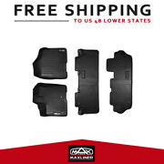 All Weather Mats Liners 3 Row Set Blk Custom Fit 13-17 Toyota Sienna 8 Passenger