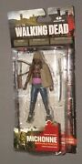 The Walking Dead Michonne W Removable Poncho Tv Series 3 Figure Moc New