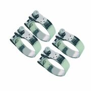 4 X Mikalor Stainless Heavy Duty Coolant/exhaust Clamps Suprapro 43mm - 47mm