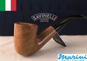 Smoking Pipes Pipe Savinelli 611 Ks Curve Briar Natural Waxed Wood Made In Italy