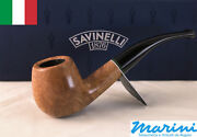 Smoking Pipes Pipe Savinelli 626 Curve Briar Natural Waxed Wood Made In Italy