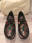 Dolce And Gabbana Shoes Bambino Sneakers Colorful Jewel Satin + 200 Itunes Card