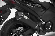 Yamaha T-max 2017-2018 Zard Exhaust Full System Conical Silencer With Carbon Cap