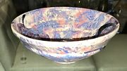 Stunning And Colorful Artist Signed Art Pottery Bowl