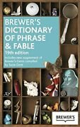 Brewer's Dictionary Of Phrase And Fable, 19th Edition By Chambers Book The Fast