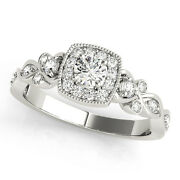 1.50 Ct Round Moissanite Forever One And Diamond Antique Engagement Ring 51l033wg