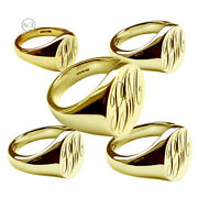 New 18ct Yellow Gold Monogrammed Signet Rings Oval Solid 375 Uk Hallmarked Rings