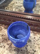 MCCARTY pottery blue goblet *ships free