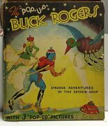 Vintage 1935 The Pop Up Buck Rogers Science Fiction Illustrated Book Vf+
