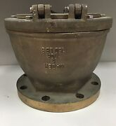 Wager 6-1750 Semicircular Float Inverted Vent Check Valve 6 Flanged Bronze