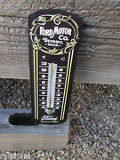 Ford Motor Co Detroit Thermometer Embossed Metal Display Shelby Motor Cool Ford