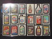 1980 Wacky Packages Sticker Card Lot Of 83 Vf/vf+ Copperbone / Playbug / Cracked