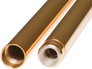 Custom Cycle Gold Pair Front 49mm Fork Tubes For 06-17 Harley Dyna Fxdwg