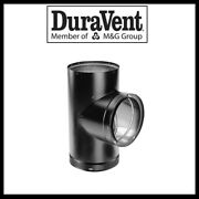 Duravent Dvl Double Wall- 6 Wood Stove Pipe- Tee W/ Clean Out Cap 6dvl-t