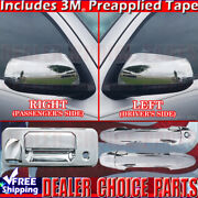 For 2016-2019 Toyota Tacoma Chrome Door Handle Covers Nsk+tailgate+mirrors