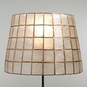 Natural Capiz Shell Accent Lamp Shade W/gold Trim Fits Uno Sockets Handmade
