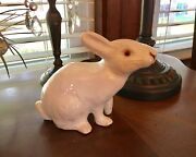BAVENT French Antique Handmade Clay Pottery White Rabbit NO RESERVE