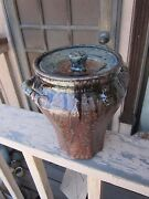 Joel Edwards American Studio  Mid-C Art Pottery Covered/Lidded Jar Voulkos Era