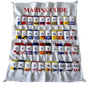 100 Cotton - Maritime Signal Code Flag Set - Set Of Total 40 Flag With Case