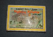 Louis Marx Carry-all Fighting Knights Action Play Set Soldiers Horse R14673