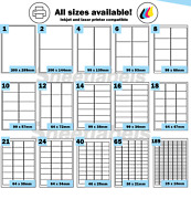 Labels Self Adhesive Sticky A4 Address Stickers For Inkjet Laser Copier Printers