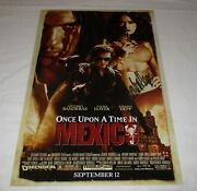 Salma Hayek Signed Once Upon A Time In Mexico 12x18 Movie Poster