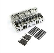 Sbc Chevy 350 Complete Straight Aluminum Cylinder Heads 190cc 64 Studs G Plates